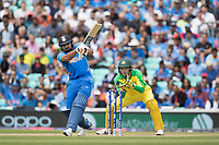 Rohit Sharma (India) pulls Adam Zampa (Australia) to the mid wicket boundary during India vs Australia, ICC World Cup Cricket at The Oval on 9th June 2019
