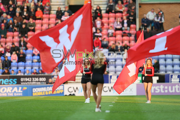 Picture by Paul Currie/SWpix.com - 01/05/2015 - Rugby League - First Utility Super League - Wigan Warriors v Hull Kingston Rovers- DW Stadium, Wigan, England - Wigan Warriors dancers