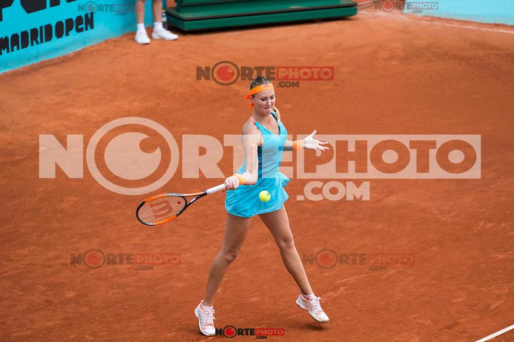 Kristina Mladenovic during  Mutua Madrid Open Tennis 2017 at Caja Magica in Madrid, May 08, 2017. Spain. /NortePhoto.com