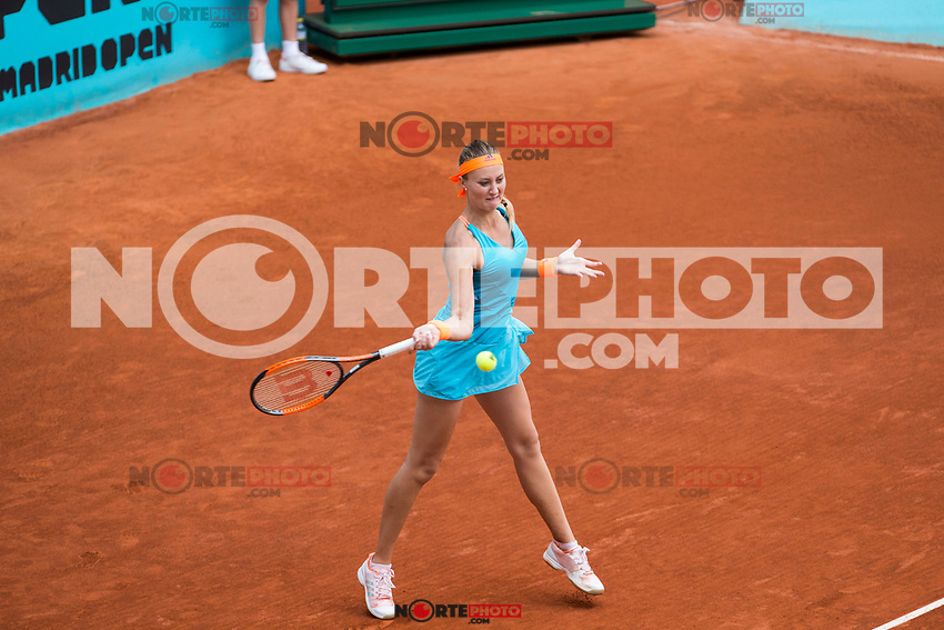 Kristina Mladenovic during  Mutua Madrid Open Tennis 2017 at Caja Magica in Madrid, May 08, 2017. Spain. /NortePhoto.com