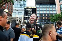 June 6, 2019: Fans celebrate outside of TD garden before game 5 of the NHL Stanley Cup Finals between the St Louis Blues and the Boston Bruins held at TD Garden, in Boston, Mass. Eric Canha/CSM