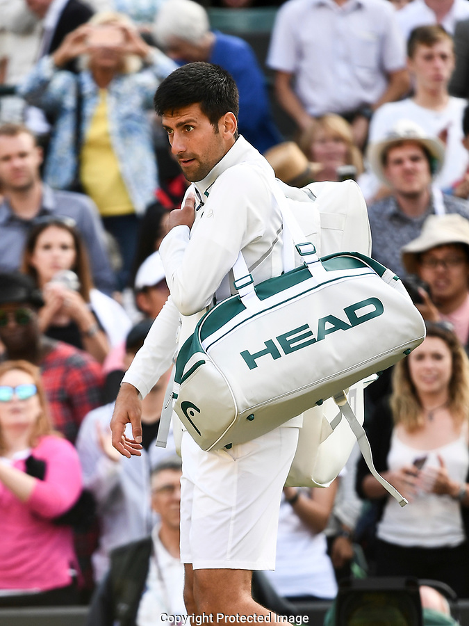 Novak Djokovic (SRB) following his retirement