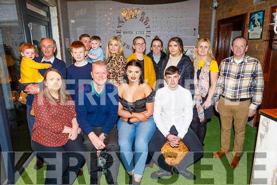 Emma Hurley from Tralee celebrating her 21st birthday in Benners Hotel on Saturday<br /> Seated l to r: Marie, Pat and Emma Hurley and Padraig O'Brien.