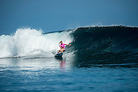 Namotu Island Resort, Nadi, Fiji (Sunday, May 29 2016): Stephanie Gilmore (AUS) -The  2016 Fiji Women's Pro commenced at 8 am this morning in clean 3'-4' waves at Cloudbreak. Round One was completed in near perfect conditions with just a slight offshore wind before the contest was called off for the day. Photo: joliphotos.com
