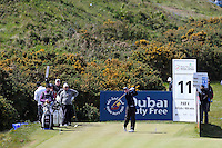 Friday 29th May 2015; David Horsey, England, tees off at the 11<br /> <br /> Dubai Duty Free Irish Open Golf Championship 2015, Round 2 County Down Golf Club, Co. Down. Picture credit: John Dickson / SPORTSFILE