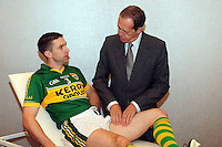 8-11-2013: REPRO FREE: Kerry footballer Marc O'Se has his groin examined by world  renowned sports physician Dr Peter Brukner at the Irish Society of Chartered Physiotherapists conference in Killarney on Friday. Dr Brukner  who has treated world renowned athletes Leo Messi, Olympian Kathy Freeman and Liverpool Football team players addressed the 200 physiotherapists on groin injury which is the third most common injury in  GAA players. The conference continues on Saturday with lectures on the diverse roles of chartered physiotherapists in promoting health and wellness in Ireland.<br /> Picture by Don MacMonagle e: info@macmonagle.com<br /> <br /> further information from Niamh Quinn niamhquinn@rcsi.ie