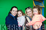 Summer fun<br /> ----------------<br /> L-R Michelle&amp;ellen Butler with Ella&amp;Fiona Flynn from Cloghane enjoying the parade.