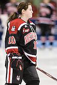 Colleen Murphy (Northeastern - 10) - The Boston University Terriers defeated the visiting Northeastern University Huskies 3-2 on Saturday, January 28, 2012, at Agganis Arena in Boston, Massachusetts.