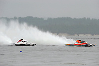 "Ken Brodie II, GP-50 ""Intensity"", Grand Prix class hydroplane (L) and Marty Wolfe, GP-93 ""Renegade"", Grand Prix class hydroplane.Syracuse Hydrofest, Onondaga Lake, Syracuse, NY.20/21 June, 2009, Dayton, OH USA..©F. Peirce Williams 2009 USA.F.Peirce Williams.photography.ref: RAW (.NEF) File Available"