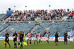Sheffield United's players come out to their supporters during the League One match at the Priestfield Stadium, Gillingham. Picture date: September 4th, 2016. Pic David Klein/Sportimage