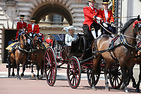 Camilla Duchess of Cornwall<br /> Trooping the Colour, at Buckingham Palace, London, England, UK  June 09, 2018.<br /> CAP/GOL<br /> &copy;GOL/Capital Pictures
