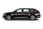 Car Driver side profile view of a 2016 Skoda Superb Combi Laurin & Klement 5 Door Wagon Side View