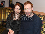 Brendan Lennon and Niamh Maughan at the Hunterstown Rovers social night in the Hunterstown Inn. Photo:Colin Bell/pressphotos.ie