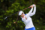 Ajira Nualraksa of Thailand tees off during the first round of the EFG Hong Kong Ladies Open at the Hong Kong Golf Club Old Course on May 11, 2018 in Hong Kong. Photo by Marcio Rodrigo Machado / Power Sport Images