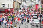 Cork and Kerry fans crowd the streets ahead of the big game in Killarney on Sunday.