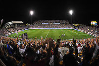 Columbus, Ohio - Tuesday, September 11, 2012: The USA defeated Jamaica 1-0 in the first round of World Cup Qualifying at Columbus Crew Stadium. Fans cerebrate a goal by Hercules Gomez.