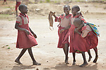 Students in the Loreto Primary School in Rumbek, South Sudan. The Loreto Sisters began a secondary school for girls in 2008, with students from throughout the country, but soon after added a primary in response to local community demands.