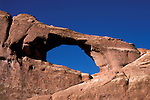 UT: Utah; Arches National Park, Skyline Arch     .Photo Copyright: Lee Foster, lee@fostertravel.com, www.fostertravel.com, (510) 549-2202.Image: utarch202