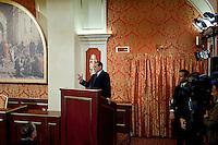 Lesmo (MI): Silvio Berlusconi durante la conferenza stampa a Villa Gernetto a Lesmo ..Lesmo (Milan): Silvio Berlusconi during a press conference in Villa Gernetto in Lesmo near Milan