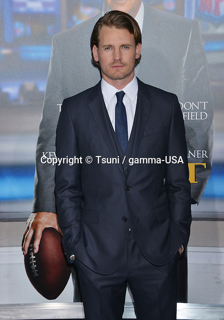 Josh Pence at the Draft Day Premiere at the Westwood Village Theatre in Los Angeles.