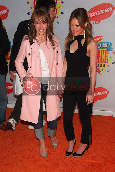 Haylie Duff and Hilary Duff<br />
