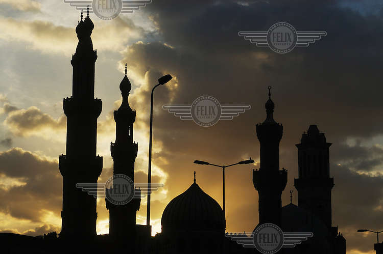 Domes and minarets of Al Azhar, the most important mosque in the country.