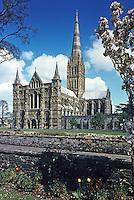 Salisbury: Salisbury Cathedral in springtime.