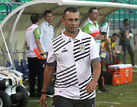 MONTERÍA - COLOMBIA ,31-08-2019: Jhon Jairo Bodmer director técnico de Jaguares de Córdoba ante Patriotas Boyacá durante partido por la fecha 9 de la Liga Águila II 2019 jugado en el estadio Municipal Jaraguay de Montería . / Jhon Jairo Bodmer coach of of Jaguares of Cordoba agaisnt of  Patriotas Boyaca  during the match for the date 9 of the Liga Aguila II 2019 played at Municipal Jaraguay Satdium in Monteria City . Photo: VizzorImage / Contribuidor.