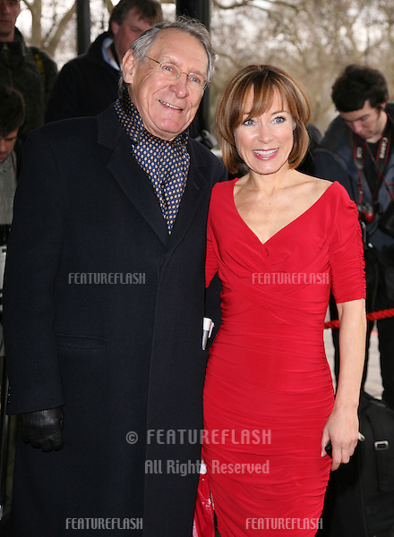 Sian Williams and her father arriving for the Tric Awards 2010, at the Grosvenor House Hotel, London.  09/03/2010   Picture by: Alexandra Glen / Featureflash