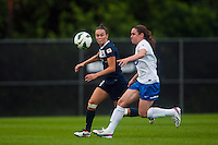 Sky Blue FC defender Caitlin Foord (4) and Boston Breakers midfielder Heather O'Reilly (9). Sky Blue FC and the Boston Breakers played to a 0-0 tie during a National Women's Soccer League (NWSL) match at Yurcak Field in Piscataway, NJ, on July 13, 2013.