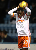 Blackpool's Marc Bola<br /> <br /> Photographer Rachel Holborn/CameraSport<br /> <br /> The EFL Sky Bet League One - Gillingham v Blackpool - Tuesday 6th November 2018 - Priestfield Stadium - Gillingham<br /> <br /> World Copyright &copy; 2018 CameraSport. All rights reserved. 43 Linden Ave. Countesthorpe. Leicester. England. LE8 5PG - Tel: +44 (0) 116 277 4147 - admin@camerasport.com - www.camerasport.com