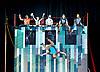 Flip FabriQue: Catch Me <br /> (Attrape Moi) <br /> at the Underbelly Festival,Southbank, London, Great Britain <br /> press photocall <br /> 15th May 2017 <br /> <br /> <br /> Christophe Hamel <br /> Bruno Gagnon <br /> Hugo Ouellet Cote <br /> Jeremie Arsenault <br /> Camila Comin<br /> Yann Leblanc <br /> <br /> <br /> <br /> Photograph by Elliott Franks <br /> Image licensed to Elliott Franks Photography Services