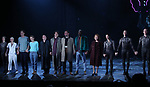 Lee Pace, Denise Gough, Nathan Lane, Andrew Garfield, James McArdle, Nathan Stewart-Jarrett, Susan Brown, Silvia Vrskova, Ron Todorowski and Rowan Ian Seamus Magee with cast during the 'Angels in America' Broadway Opening Night Curtain Call Bows at the Neil Simon Theatre on March 25, 2018 in New York City.