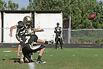 Palos Verdes CA 10/22/10 - Brock Dale (Peninsula #7) and \p47\ in action during the Leuzinger - Peninsula varsity football game at Palos Verdes Peninsula High School.