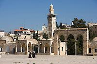 Asie/Israël/Judée/Jérusalem: Vieille ville - Quartier Musulman - Esplanade du temple- Haram el-Cherif -