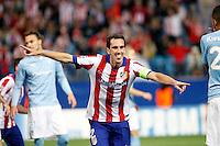 Godin of Atletico de Madrid scores during Champios Legue soccer match between Atletico de Madrid V Malmoe al Vicente Calderon Stadium. October 22, 2014. (ALTERPHOTOS/Caro Marin)