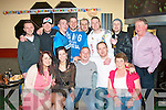 2977-2981.---------.Bonvoyage.---------.Ross Moriarty,Ballyard,Tralee had a great Going Away party in the Sportsfields bar,Boherbue,Tralee last Saturday night,also seated are L-R Megan Moriarty,Kirsti Sepp,Ross Moriarty,Diarmuid McCarthy and Bridie Roche(Back)L-R Mark Hennessy,Trevor Harty,Damian Roche Jnr,Ian Murphy,Tom Dineen,Colm Gurnett,Noel Dineen and Damian Roche.