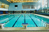 New swimming pool at Swiss Cottage Sports Centre, three weeks before the centre is due to re-open.