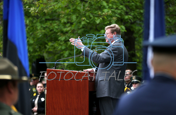 Rep. Mark Amodei, R-Nev., speaks at the annual Nevada Law Enforcement Officers Memorial Ceremony on the Capitol Mall in Carson City, Nev., on Thursday, May 7, 2015.<br /> Photo by Cathleen Allison