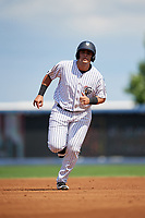 Staten Island Yankees designated hitter Miguel Flames (60) runs the bases during a game against the Lowell Spinners on August 22, 2018 at Richmond County Bank Ballpark in Staten Island, New York.  Staten Island defeated Lowell 10-4.  (Mike Janes/Four Seam Images)