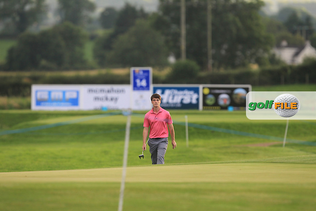 Dermot McElroy (Ballymena), in his first Professional event, walking down the 14th fairway during Round 1 of the Tayto Northern Ireland Open in partnership with Ulster Bank at Galgorm Castle Golf Club, Ballymena Co. Antrim on Thursday 28th July 2016.<br /> Picture:  Golffile | Thos Caffrey<br /> <br /> All photos usage must carry mandatory copyright credit   (&copy; Golffile | Thos Caffrey)