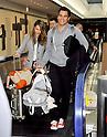 Narita, Japan - April 14th 2012 : Actress Jessica Alba arrives at Narita Airport in Japan with her daughters Haven Garner Warren and Honor Marie Warren and her husband Cash Warren.