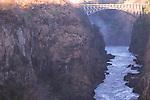 Zambezi River beneath Victoria Falls