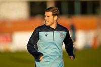30th November 2019; Dens Park, Dundee, Scotland; Scottish Championship Football, Dundee Football Club versus Queen of the South; Josh Todd of Dundee during the warm up before the match  - Editorial Use