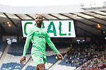 Moussa Dembele celebrates after scoring Celtic's 4th goal