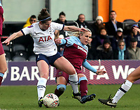 Adriana Leon of West Ham United women and Emma Mitchell of Tottenham Hotspur women during Tottenham Hotspur Women vs West Ham United Women, Barclays FA Women's Super League Football at the Hive Stadium on 12th January 2020