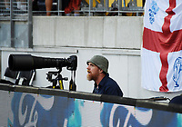 Getty images photographer Stu Forster during the One Day International cricket match between the New Zealand Black Caps and England at the Westpac Stadium in Wellington, New Zealand on Friday, 2 March 2018. Photo: Dave Lintott / lintottphoto.co.nz