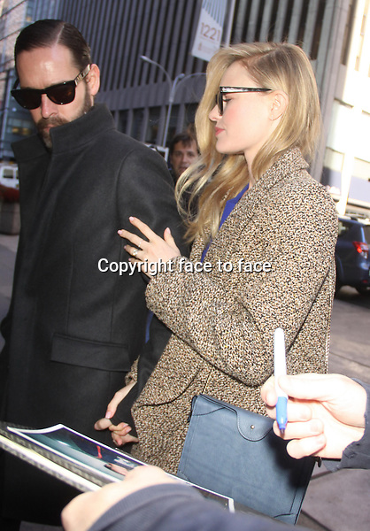 NEW YORK, NY - OCTOBER 28: Kate Bosworth and Michael Polish at SiriusXM stuidos in New York City. October 28, 2013. <br />