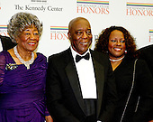 Chicago blues legend Buddy Guy and members of his family arrive for the formal Artist's Dinner honoring the recipients of the 2012 Kennedy Center Honors hosted by United States Secretary of State Hillary Rodham Clinton at the U.S. Department of State in Washington, D.C. on Saturday, December 1, 2012. The 2012 honorees are Buddy Guy, actor Dustin Hoffman, late-night host David Letterman, dancer Natalia Makarova, and the British rock band Led Zeppelin (Robert Plant, Jimmy Page, and John Paul Jones)..Credit: Ron Sachs / CNP