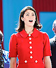 Made in Dagenham <br /> by Richard Bean  / Richard Thomas <br /> at the Adelphi Theatre, London, Great Britain <br /> press photocall <br /> 31st October 2014 <br /> <br /> Gemma Arterton as Rita O'Grady <br /> <br /> <br /> <br /> <br /> Photograph by Elliott Franks <br /> Image licensed to Elliott Franks Photography Services